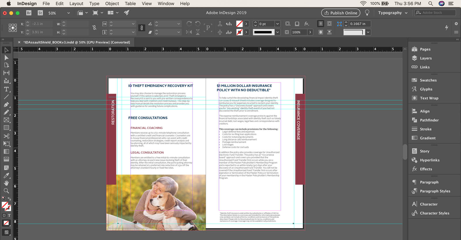 How to export a single page from InDesign