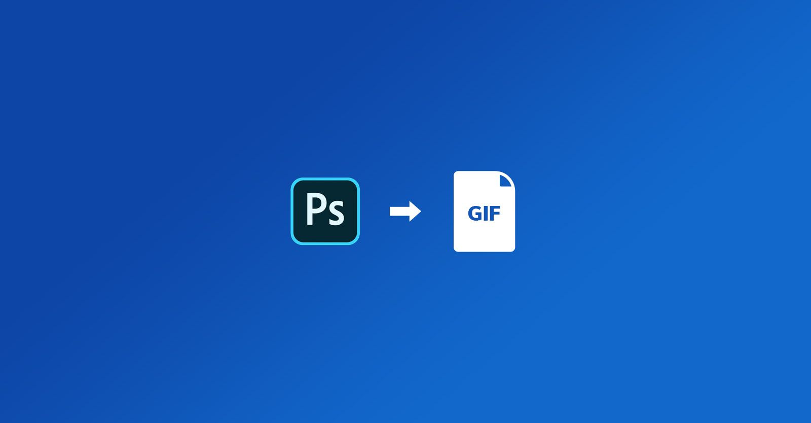 How to export a GIF file from Photoshop