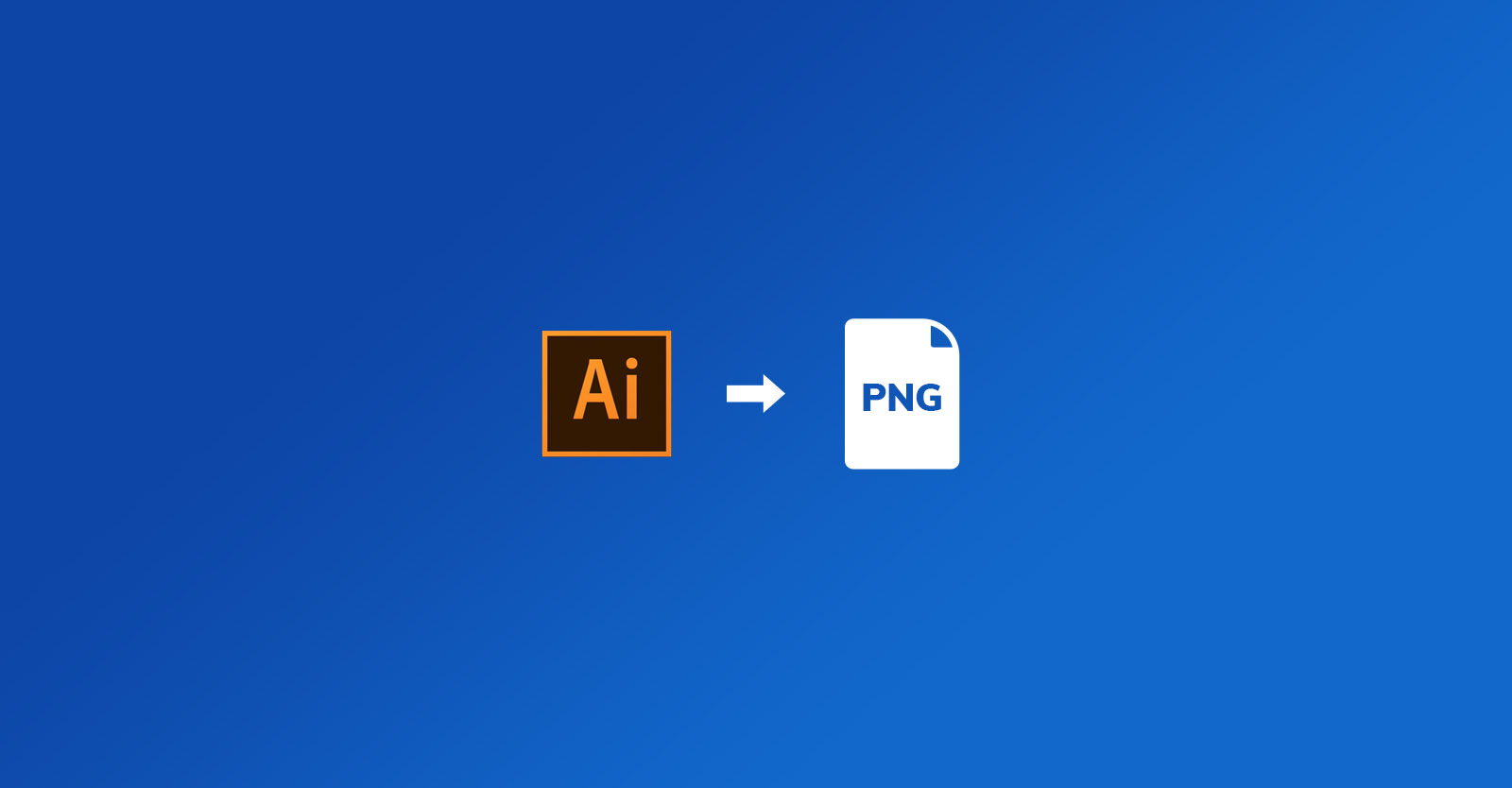 How to export a PNG file from Illustrator
