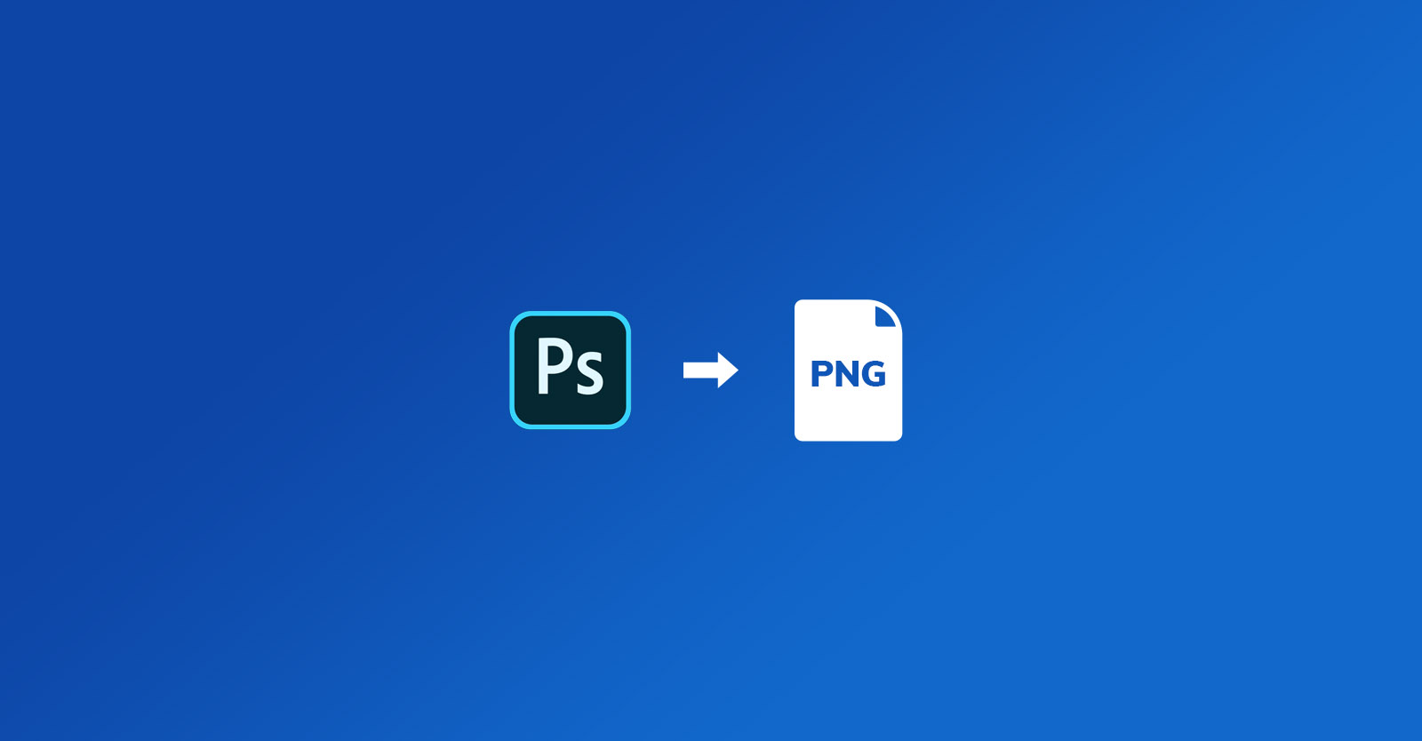 How to export a PNG file from Photoshop