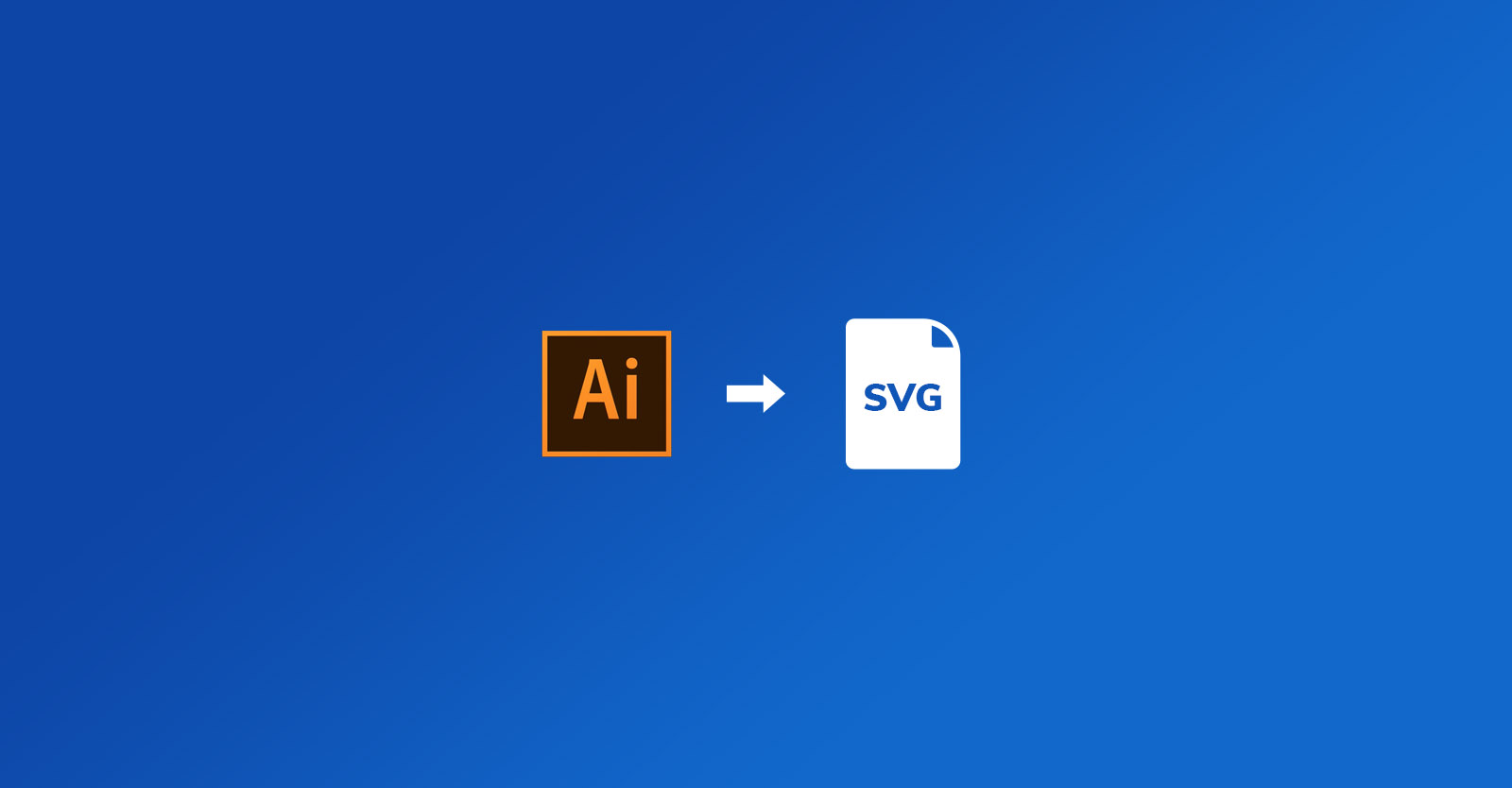 How to export an SVG file from Illustrator