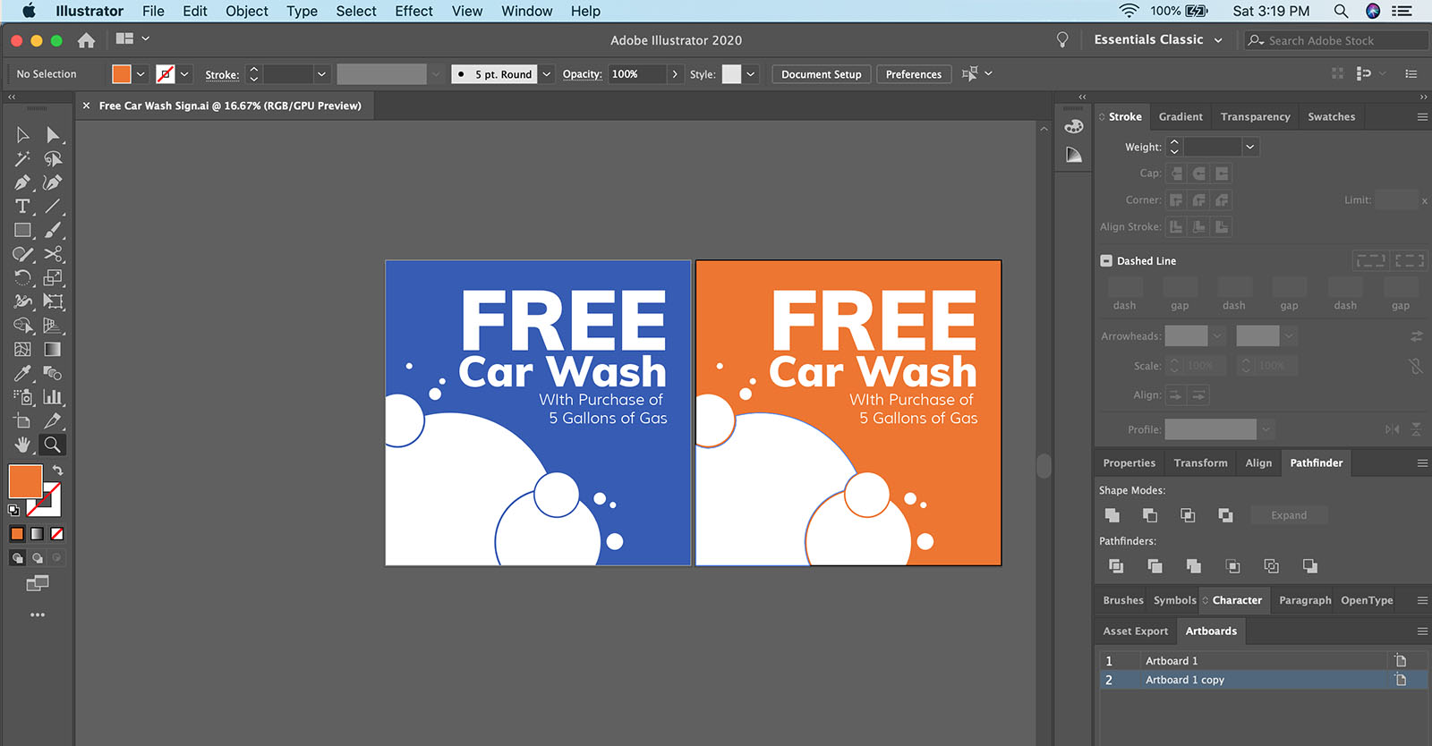 How to export artboards as separate PDF files in Illustrator